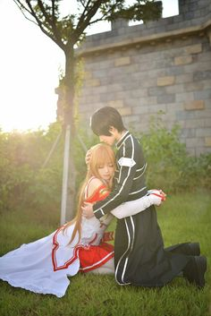 Kirito and Asuna Cosplay