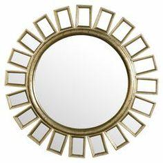 Cyrus Sunburst Wall Mirror in Distressed Silver Leaf