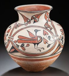 Santo Domingo Polychrome Jar C. 1920