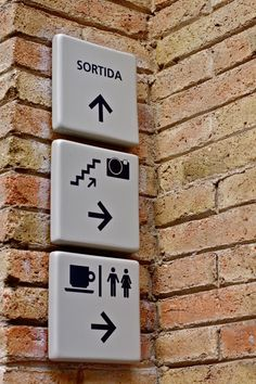 Wayfinding and Typographic Signs - caixa-forum-pictograms