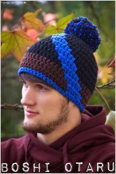 30Boshi Otaru {Tutorial}                                                                                                                                                                                 Mehr Otaru, Crochet Men, Crochet Hats, Head & Shoulders, Hats For Men, Ravelry, Knitted Hats, Winter Hats, Knitting
