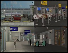 JC Armstrong Airport is by ilikefishfood and can be found in our Prime Real Estate section. #Sims2 #Downloads