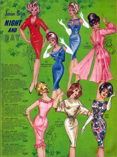 Love Fashion Love Vintage: What does Millie the Model have to do with Frederick's of Hollywood? Robes Vintage, Vintage Dresses, Vintage Outfits, Vintage Ads, Vintage Style, 1960s Fashion, Love Fashion, Vintage Fashion, Fashion Design