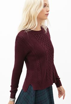 Crew Neck Fisherman Sweater | FOREVER21 - 2000118347