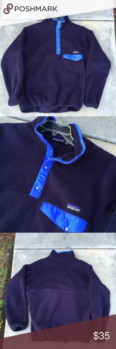 Patagonia Synchilla Snap-t flee pullover mens medium patagonia snap t flece / has some wear // no rips or stains / very cozy for chilly mornings// fits true to size // mens medium Patagonia Sweaters