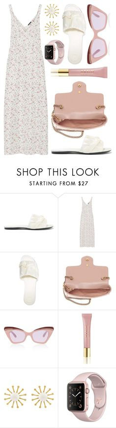 """""""Maxi Dress"""" by cherieaustin ❤ liked on Polyvore featuring The Row, R13, Gucci, Karen Walker, AERIN and Meg Carter Designs"""