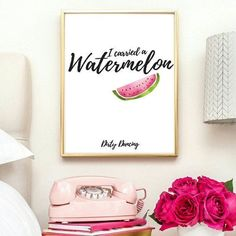 Watermelon  off prints watermelon poster by IKnowimPerfectPrints