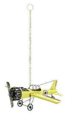 Decorative And Classy Yellow Vintage Bi Airplane Model from Casa Gear at SHOP.COM