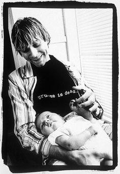 Kurt Cobain with his daughter Frances Bean  Nirvana - 1993.