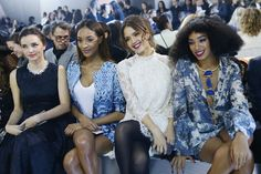 Miranda Kerr, Jourdan Dunn, Jessica Alba and Solange Knowles in Paris FW