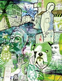 Eduardo Bertone - Eduardo Bertone uses a fusion of illustration, painting and graphic design to wake us up from a sedative and superficial world. Artist Painting, Figure Painting, Figure Drawing, Painting & Drawing, Graphic Art, Graphic Design, Art Students, Art Programs, High Art