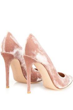 peach coloured velvet bridal shoes - brides of adelaide