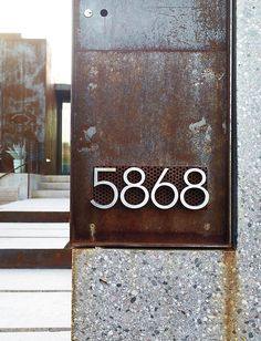 Neutra Modern House Numbers | Design Within Reach | DWR.com