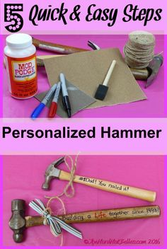 Are you stumped as to what to get for your husband, your Dad, or grandpa as a Father's Day gift or any tool loving person? Stick around and we will share how to make a practical personalized gift for the tool loving people in your life! The cool thing abo Diy Father's Day Gifts Easy, Diy Gifts For Him, Christmas Gifts For Him, Father's Day Diy, Gifts For Husband, Christmas 2017, Daddy Gifts, Grandpa Gifts, Daddy Day