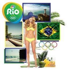"""RIO 2016 ❤ GO BRASIL"" by annynavarro ❤ liked on Polyvore featuring Haze, Frontgate, Louis Vuitton, Havaianas, GOBRASIL, rio2016 and TEAMBRASIL"
