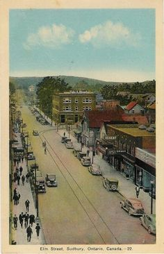 1938 Downtown Sudbury ON post card Sudbury Canada, Greater Sudbury, Manitoulin Island, O Canada, Elm Street, Quebec, Ontario, Paris Skyline, Fun Facts