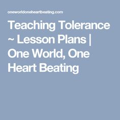 teaching tolerance lesson plans - 236×236