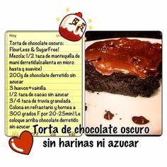 Aqui tienen la receta de la nueva tarta chocolate!!