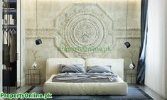 Colorful Bedroom Designs & Ideas Arty Bedroom, Bedroom Decor, Zeitgenössisches Apartment, Apartment Design, Wall Molding, Molding Ideas, Contemporary Apartment, Contemporary Bedroom, Bedroom Colors