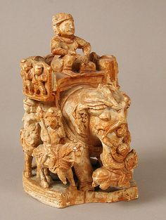 Chess Piece of a King ~ Islamic ~  early 20th century (original dated 8th–10th century) ~  Plaster cast ~ Reproductions-Ivories ~ Metropolitan Museum of Art