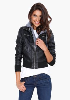 Atwood Faux Leather Jacket   Shop for Atwood Faux Leather Jacket Online