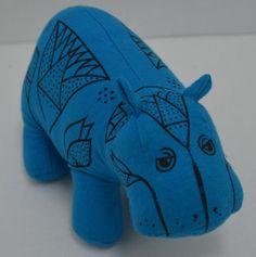 "William The Hippo Plush Metropolitan Museum Art Hippopotamus Blue Bean Bag 6"" #MetropolitanMuseumofArt http://stores.ebay.com/Lost-Loves-Toy-Chest/_i.html?image2.x=0&image2.y=0&_nkw=hippo"