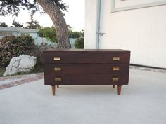 MID CENTURY MODERN Small 3 Drawer Dresser in by HouseCandyLA
