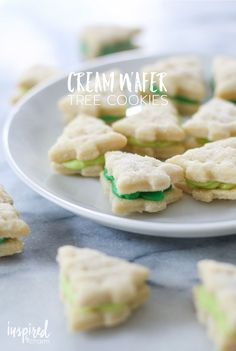 Cream Wafer Tree Cookies | inspiredbycharm.com #IBCholiday