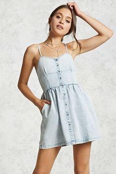Button-Down Chambray Dress