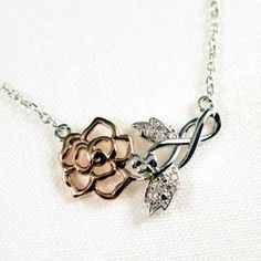 """Wild Irish Rose Necklace Like the song says..... """"My Wild Irish Rose, The sweetest flower that grows. You may search everywhere, But none can compare with My Wild Irish Rose"""""""