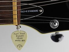 Love my Guitarist - personalized hand stamped guitar jewelry by ChristinaGuenther