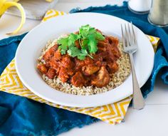 This lovely butter chicken recipe is still just as rich and creamy as the full fat version, but contains only 290 calories per serve. A lose baby weight recipe  