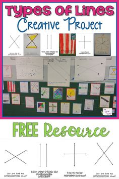 Creative project when working with perpendicular, parallel and intersecting lines! FREE