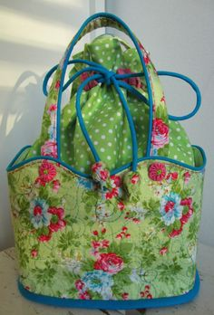 Like the shape of the bag and how it closes - maybe not such frilly fabric. For a craft bag - not a purse.