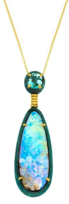 Bronze Opal Pendant