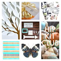 Here is our October moodboard  Designer @missywhidden has created an amazing LO inspired by this moodboard  #moodboard #hipkitclub #hipkits #inspiration
