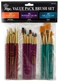 5/piezas Paint Brush Set pintura decoraci/ón diy mango de madera pintores cepillos Flexible para aceite Pinturas a base de agua
