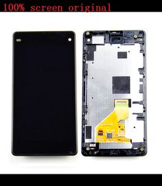 37.00$  Know more - http://ai956.worlditems.win/all/product.php?id=32742789548 - Black LCD For Sony Xperia Z1 compact M51w z1 mini D5503 LCD Display with Touch Screen digitizer assembly+Frame