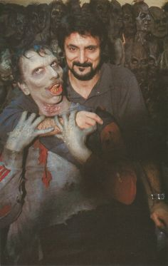 Day Of The Dead (dir; George A. Romero, - Special make-up effects, Tom Savini Classic Horror Movies, Horror Films, Horror Art, Space Ghost, Zombie Movies, Scary Movies, Scream, Zombies, Tom Savini