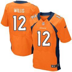 mens nike denver broncos 12 matt willis elite orange team color nfl jersey sale
