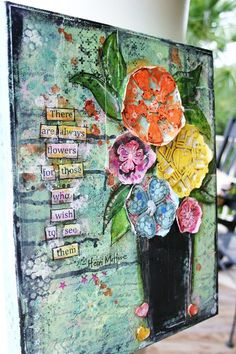 October Mixed Media Kit 2013 by Robin Blackman! Image Collage, Collage Art, Collages, Mixed Media Journal, Mixed Media Collage, Flower Collage, Flower Art, Diy Art Projects, Art Pages