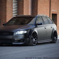 murdered out family audi, sick if you have to rock a family car.