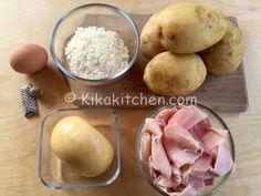 Rotolo di patate farcito (al forno)   Kikakitchen Easy Cooking, Relleno, Fett, My Recipes, Food And Drink, Pizza, Anna Lucia, Vegetables, Prosciutto Cotto