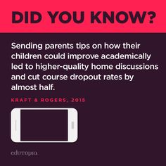 Home-to-school connections can be so beneficial to children. Quick texts sent to parents done through apps like Remind can reinforce those connections.