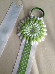 A personal favorite from my Etsy shop https://www.etsy.com/listing/231023475/green-and-white-bow-holder