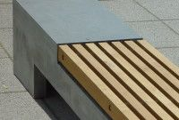 Bank, Beton und Holz