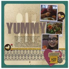Another great Glimmer Mist idea!  Use die-cuts as a stencil.  From MoniL on scrapbook.com cute for disney dining