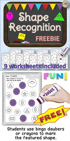 FREEBIE! This new freebie in my store is for the Preschool / Pre-K and Kindergarten crowd! Shape recognition with bingo daubers. Come grab it today and PLEASE, give it a rating to earn some TPT credits!