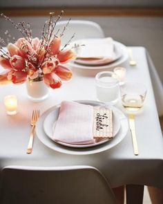 Pipe your guests' names in chocolate on matzos. Tuck them into napkins, and use them in lieu of place cards.