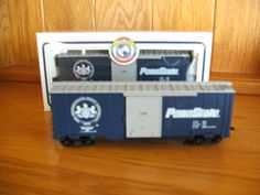 Train HO Open Stock PENN STATE Blue Boxcar